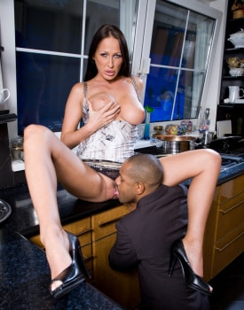 Busty MILF Has a Xmass Ride in the Kitchen-4