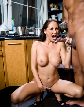 Busty MILF Has a Xmass Ride in the Kitchen-9