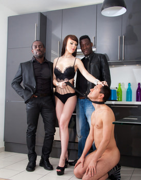 Ambre Aphrodite in an Interracial DP Threesome-2
