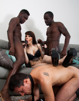 Ambre Aphrodite in an Interracial DP Threesome-4