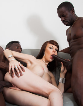 Ambre Aphrodite in an Interracial DP Threesome-5