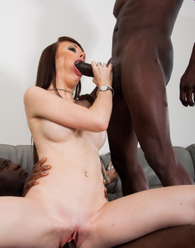 Ambre Aphrodite in an Interracial DP Threesome-7