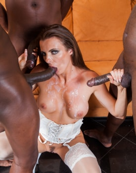 Swiss Politician's Wife Caroline Tosca's Gets a Gangbang-11
