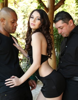 Stacy Snake Wants a Hard Anal Interracial Threesome-4