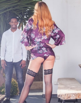 Shona River, Sexy Redheaded in an Interracial Threesome-1