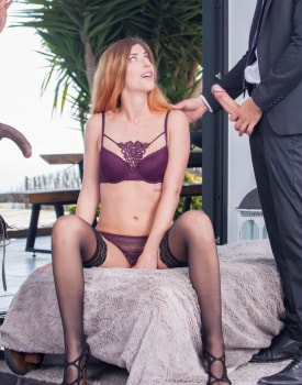 Shona River, Sexy Redheaded in an Interracial Threesome-5