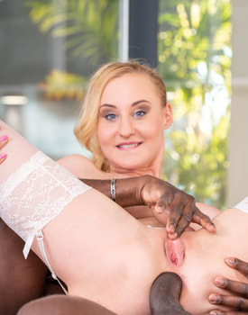 Helena Valentine Wears Lingerie for Anal Interracial Sex-10