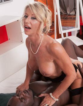 MILF Marina Beaulieu Tastes her First Big Black Cock-9