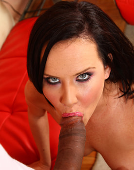 Katie St Ives Gives a Big Black Cock to her Hairy Pussy-4