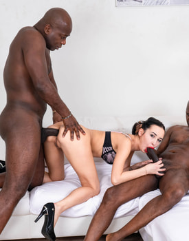 Freya Dee Gets a Threesome with DP and Double Vaginal-9