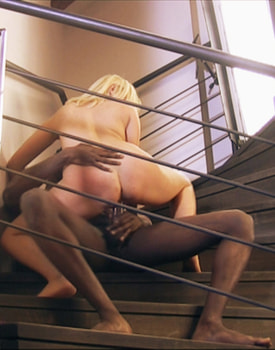 Kathy Gets Anal Sex in a Ladder with a Black Guy-7