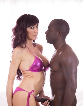 Saucy Brunette Tries Interracial-3