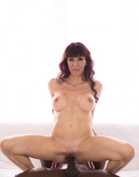 Saucy Brunette Tries Interracial-6