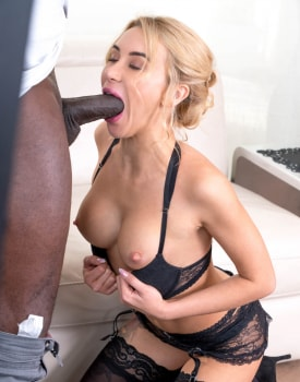 Cute blonde with big cock anal