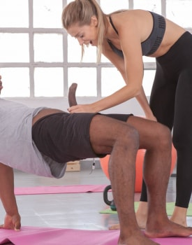 Interracial Workout for Gym Babe-4