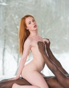 Young Redhead Tastes Black Meat-7