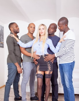 Four Studs for Blonde Nympho-3