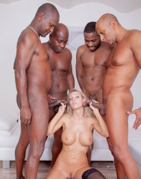 Four Studs for Blonde Nympho-4