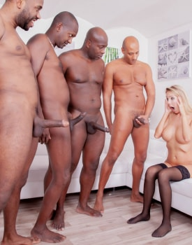 Four Studs for Blonde Nympho-6