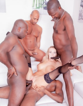 Four Studs for Blonde Nympho-8