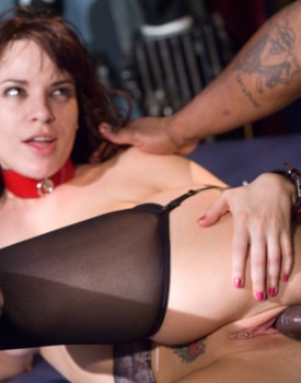 Sexy Brunette Enjoys Anal in a BDSM Scene-4