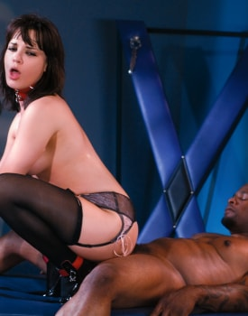 Sexy Brunette Enjoys Anal in a BDSM Scene-5